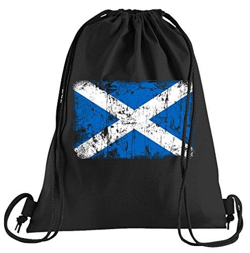T-Shirt People Schottland Vintage Flagge Fahne Sportbeutel – bedruckter Beutel – eine schöne Sport-Tasche Beutel mit Kordeln
