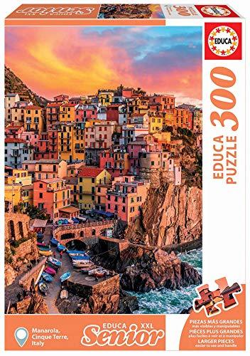 Educa Borras - Serie XXL Senior, Puzzle 300 piezas Manarola Cinque Terre, Italia (17980)