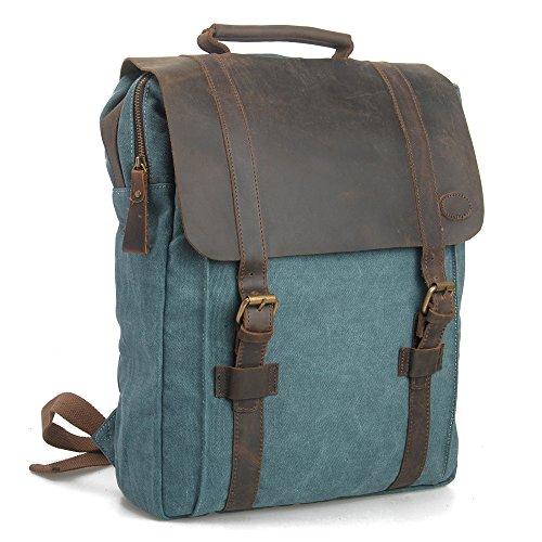 Minetom Lona Backpack Mochilas Escolares Mochila Escolar Casual Bolsa Viaje Moda Clamshell Mujer Colores Mezclados Azul Large(31 * 11 * 42 Cm)