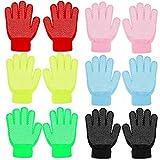 QKURT 6 paia di Guanti per bambini, guanti elastici caldi invernali Guanti elasticizzati unisex per ragazzi e ragazze di 5~8 anni