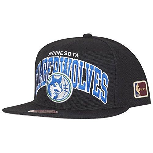 Mitchell & Ness Minnesota Timberwolves HUD127 Black Team Arch Snapback Cap HWC NBA