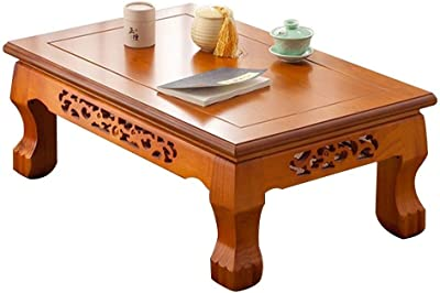 Living Room Coffee Table Wooden Small Table Balcony Tea Table Writing Desk Study Table Laptop Table (Color : A, Size : 70X45X30CM)