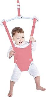 Pink Adjustable Toddler Baby Bouncer Baby Toys Baby Walker Swing Creative Baby Door Jumper Set