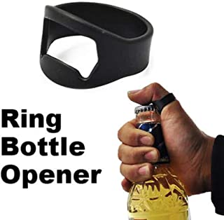 Beer Funny - 1 Pcs Stainless Steel Finger Ring Shape Bottle Opener Practical Openers - Mount Coke Wall Punk Bottle Bracelet Vintage Collection Necklace Open Men Bottle Steel Ring Stain