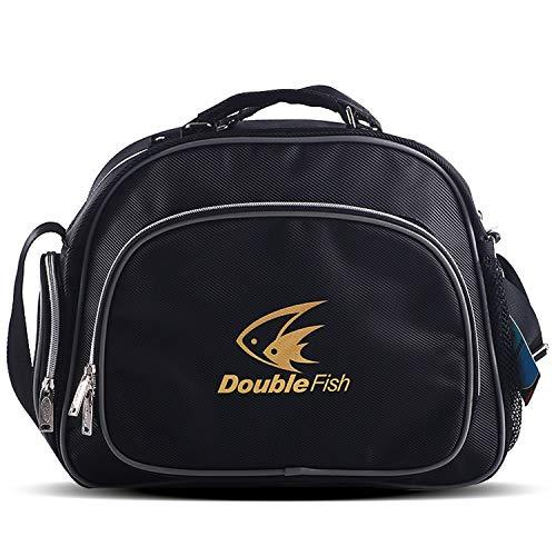 Affordable Double Fish Table Tennis Racket Bag Waterproof Anti-Static mildewproof (Black
