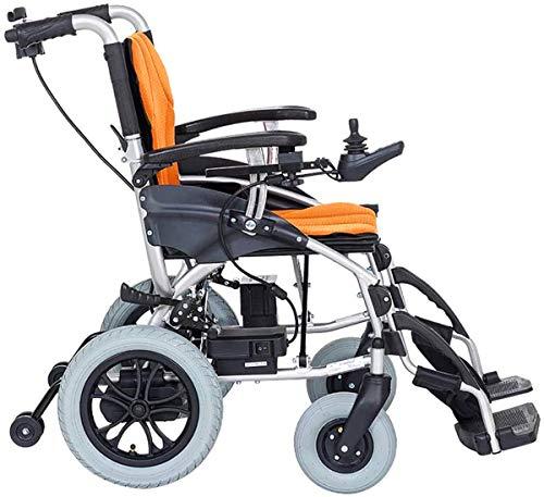 Silla de ruedas eléctrica Ligera eléctrica silla de ruedas, función dual se puede abrir en 1 segundo, plegable móvil del reposapiés, duración de la batería 12 Millas eléctrica o autobús Manual , Cómod