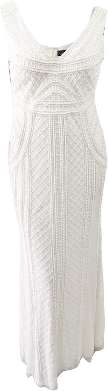 Adrianna Papell Womens Sleeveless Mermaid Evening Dress