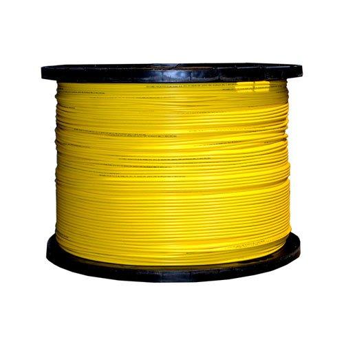 Bulk Zipcord Fiber Optic Cable, Singlemode, Duplex, 9/125, Yellow,...