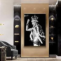 キラークイーン-フレディマーキュリーレジェンド油絵キャンバスクアドロスポスターとプリントスカンジナビアの壁アート写真家の装飾50x70cmフレームなし
