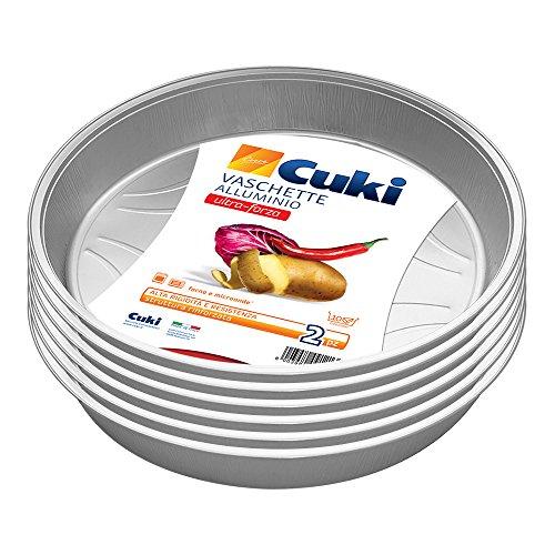 Cuki Bandejas de aluminio – Ultra Fuerza – 10 porciones – Redondas [Ts10G] – 6 paquetes de 2 unidades – 280 g