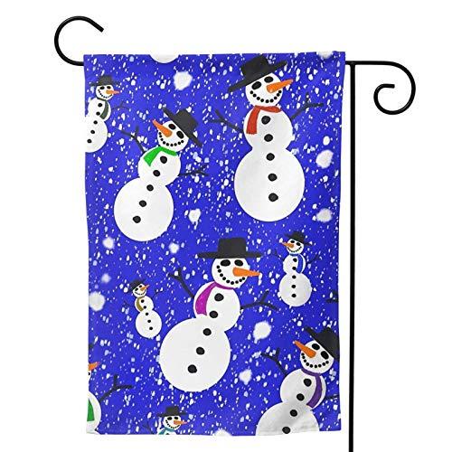 Ahdyr Bandera de decoración de jardín Navidad 2021 Muñeco de Nieve Blizzard 2021 Bandera de jardín Vertical de Doble Cara 12 X 18 Pulgadas Decoración de Patio al Aire Libre