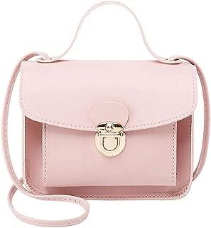 Niome Crossbody Shoulder Bags for Women Chain Leather Purse Satchel Handbags Pink