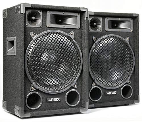 """COPPIA CASSE ACUSTICHE PASSIVE PROFESSIONALI 1400W (700w x 2) 12"""" (31 CM) DJ PALCO DIFFUSORI ALTOPARLANTI non amplificate"""