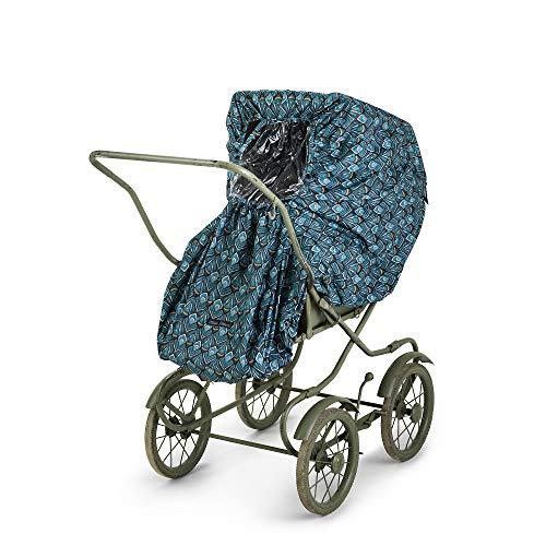 Elodie Details Universal Regenschutz für Kinderwagen/Buggy mit Sichtfenster - Everest Feathers, Blau