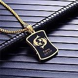 DADATU Escorpio 12 Constelaciones Collar Regalos De Cumpleaños Color Oro Acero Inoxidable Amuleto Colgante Signo Zodiacal Joyas Collier 50Cm