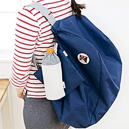hunpta plegable de almacenamiento bolsa de hombro mochila multifuncional paquete de acabado