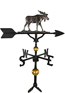 Montague Metal Products 32-Inch Deluxe Weathervane with Swedish Iron Moose Ornament