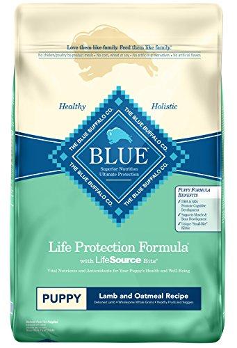 Blue Buffalo Life Protection Formula Puppy Dog Food – Natural Dry Dog Food for Puppies – Lamb and Oatmeal – 30 lb. Bag