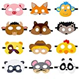 JAHEMU Maschere di Animali Feltro Mascherine Animal Masks Compleanno Natale Mascherata Hal...