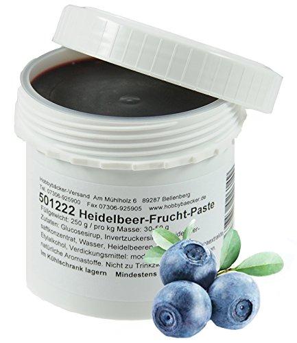 Hobbybäcker Heidelbeer-Fruchtpaste ► Zum Verfeinern von Eis, Pralinen, Desserts & Tortencremes, Intensiv-Fruchtig, 250g