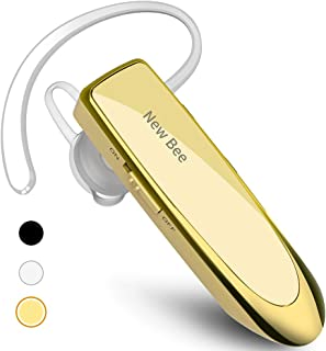 New bee Bluetooth Earpiece Wireless Handsfree Headset 24 Hrs Driving Headset 60 Days Standby Time with Noise Cancelling Mi...