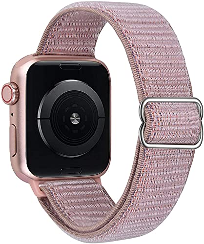 VISOOM Stretchy Bands Compatible with Apple Watch 38mm/40mm/42mm/44mm-Apple Watch Strap for iWatch Series 6/SE/5/4/3/2/1 Accessories Elastics Sports Replacement for Men Women (Pink, 38mm/40mm)