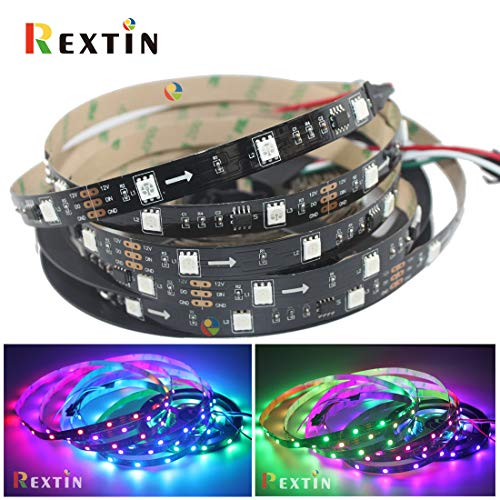 Tira de luces LED RGB de 5 m WS2811 150/300 LED RGB direccionable Dream Color Chasing DC12V Digital Programable