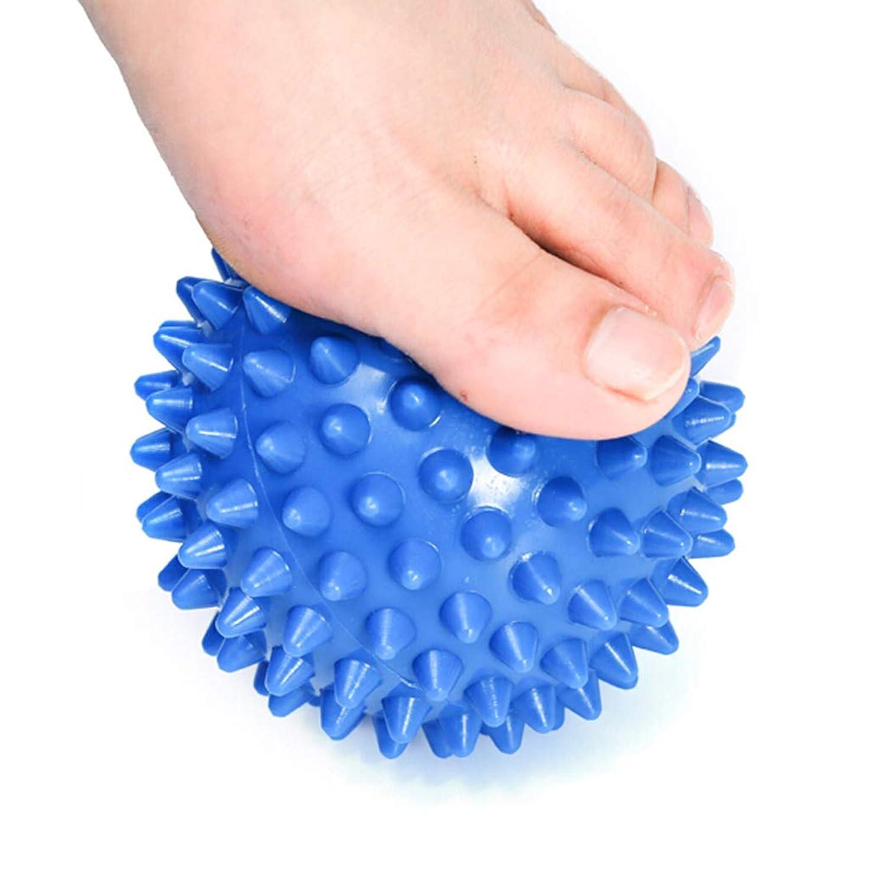塗抹批判気怠いマッサージボール、筋肉の弛緩、指圧、足、リハビリテーションボール、深部筋肉組織筋肉のトリートメント、筋肉痛の緩和に適しています。,Blue