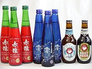 クラフトビールパーティ8本セット 常陸野ネストアンバーエール330ml 常陸野ネストホワイトエール330ml 本格紫芋焼酎スパークリング(赤猿300ml)×3本 日本酒スパークリング清酒(澪300ml)×3本