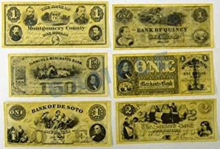 Union Civil War Currency Dollars Reproduction Replica