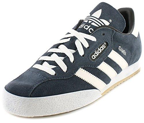 Adidas Samba Super Wildleder Innen Fußballschuhe Turnschuhe - Marine Wildleder/Weiß - UK GRÖßEN 6-13 - 8.5 UK