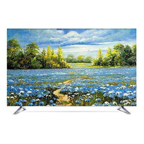 catch-L Funda para Monitor Funda para televisor de Interior TV Decoración De La Fibra de Poliéster para Televisor de 22' - 47' LCD, LED -GAOGUIMEI Cubierta Antipolvo(Size:42inch,Color:Victoria)