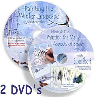 2 DVD Twin Pack! Hints & Tips for Painting Snow and Painting the Winter Landscape in Watercolor with Susie Short