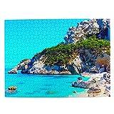 Italia Cerdeña Jigsaw Puzzle 500 piezas para adultos niño de madera regalo recuerdo 20.5 x 15 pulgadas (FX03272)