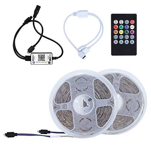 Impermeable Inteligente 10m 540LED Chips Tira de Luces Tira de luz de epoxi RGB Control Inteligente de la aplicación Bluetooth para el hogar Bar KTV Decoración Enchufe de la UE 100‑240V