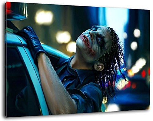 Batman Format 120x80 cm Bild auf Leinwand, XXL riesige Bilder fertig gerahmt mit Keilrahmen, Kunstdruck auf Wandbild mit Rahmen
