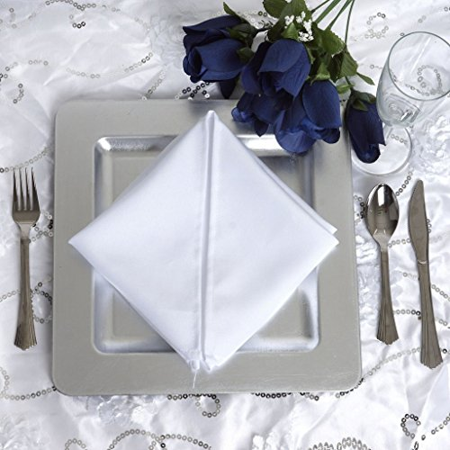 BalsaCircle 24 pcs 11.5-Inch Silver Metallic Square Rimmed Charger Plates Dinner Wedding Supplies for all Holidays Decorations