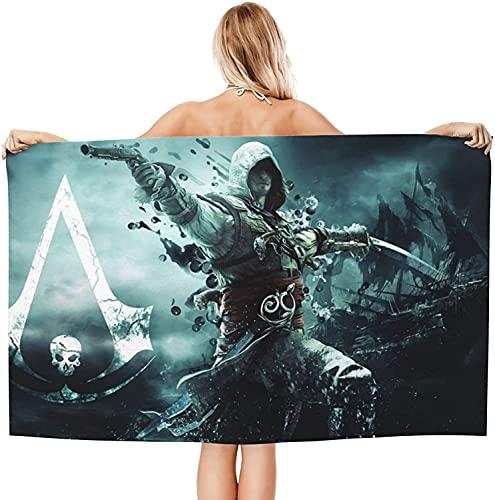 NFBZ Toalla de microfibra de Assassin's Creed, para piscina, playa, de secado rápido, para viajes, natación, piscina, camping, gimnasio y deportes (Assassin's Creed-1,80 x 160 cm)