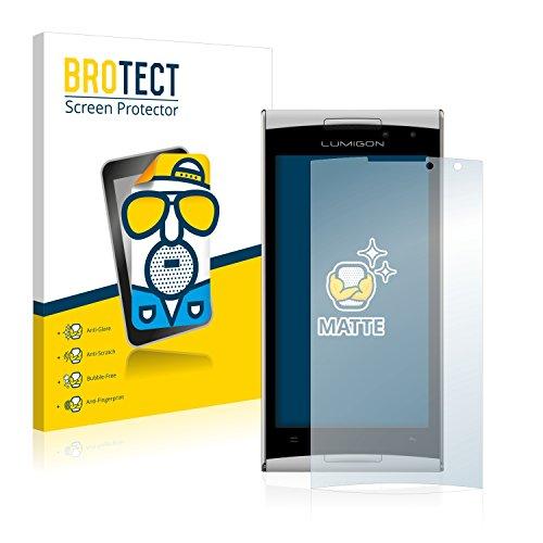BROTECT 2X Entspiegelungs-Schutzfolie kompatibel mit Lumigon T2 HD 2014 Bildschirmschutz-Folie Matt, Anti-Reflex, Anti-Fingerprint