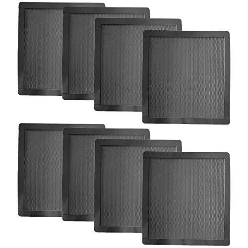 Fransande 8 piezas marco magnético filtro antipolvo PVC malla para casis doméstica PC Bootier de ordenador ventilador de refrigeración