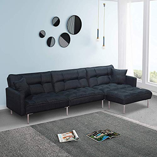 Purchase Depointer Living Room Tufted Splitback Sleeper Plush Couch Furniture/Sectional Futon Sofa B...