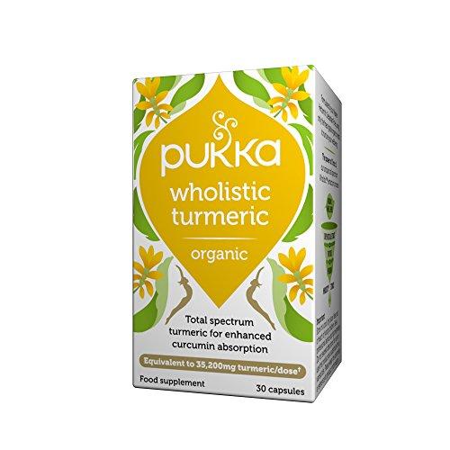 Pukka Herbs Wholistic Turmeric, Organic Herbal Supplement, Pack of 30 Capsules