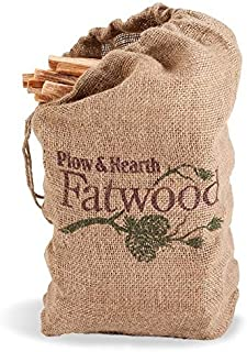 Plow & Hearth 1932 Fatwood Fire Starter, 12 lb. Bag, Brown, 12,