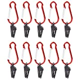 <span class='highlight'><span class='highlight'>LEZED</span></span> Tarp Clip Tent Clips with Carabiner Awning Clamp Canopy Clip Holder Windproof Plastic Awning Clamp Lock Grip for Outdoor Camping Hiking Travling Agriculture Garden Accessories 10PCS
