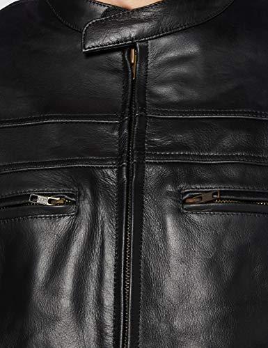STURGIS (Monza Naked Rindsleder CE und belüftet Motorrad Jacke schwarz schwarz XXXX-Large - 3