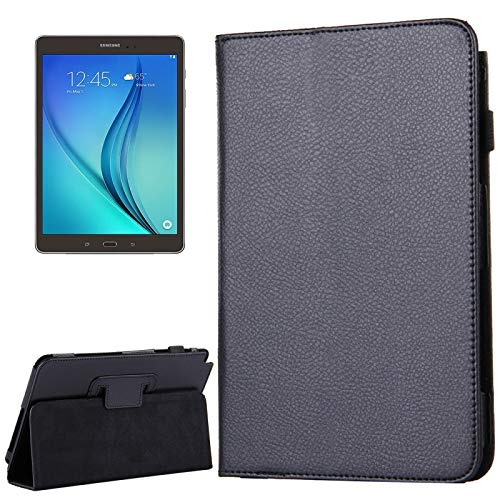 Zhangli Fundas para tabletas Galaxy para Samsung Galaxy Tab A 8.0 / T350 Litchi Texture Funda de Cuero con Tapa magnética Horizontal con Soporte Fundas para tabletas Galaxy (Color : Black)