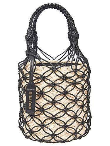 Miu Miu Luxury Fashion Damen 5BE0622C90F0I55 Beige Stoff Handtaschen | Frühling Sommer 20