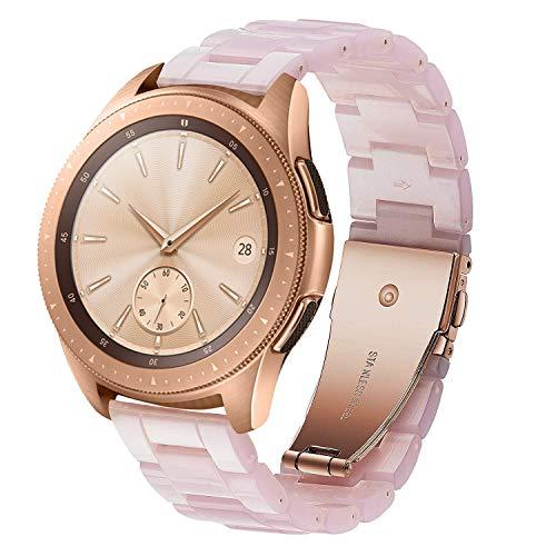 SUNDAREE Compatibile con Cinturino Galaxy Watch Active2/42MM,20MM Cinturini di Ricambio Ultraleggero Resina Orologio Sostituzione Cinghia Polso per Samsung Galaxy Watch Active2 40 44(Rosa-42)