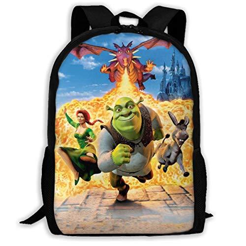 Cartoon Shrek Monster Outdoor Daypack Casual Backpack School Bags School Book Bags for Women Men,Size 43X28X16Cm