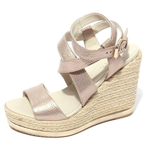 Hogan B0648 Sandalo Donna Zeppa yuta Rosa/Oro Shoe Sandal Woman [38.5]